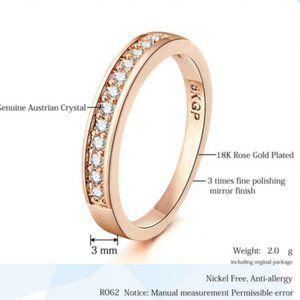 18KGP Rose Gold Zircon Ring